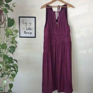 Moulinette Soeurs Anthro Smocked midi Dress 14
